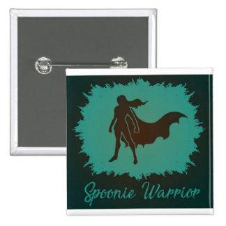 Spoonie Warrior (with background) Button