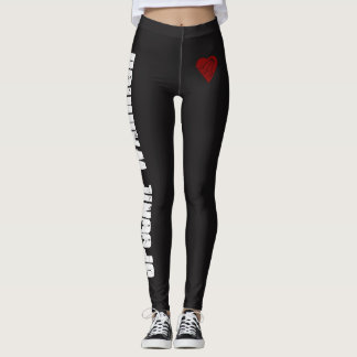 Spoonie Warrior with Heart and Spoons Leggings
