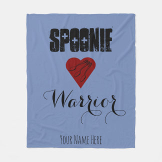 Spoonie Warrior with Heart - Customizable Fleece Blanket