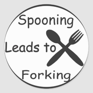 Spooning Leads to Forking Round Sticker