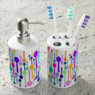 Spoons All Over Soap Dispenser