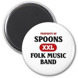 Spoons Folk Music band Refrigerator Magnet