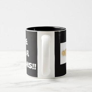 SPOONS! Two-Tone COFFEE MUG