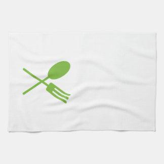 Spork Kitchen Towel Green