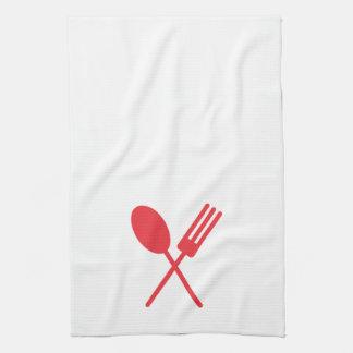 Spork Kitchen Towel Red