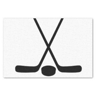 Sport Athlete Hockey Sticks Tissue Paper