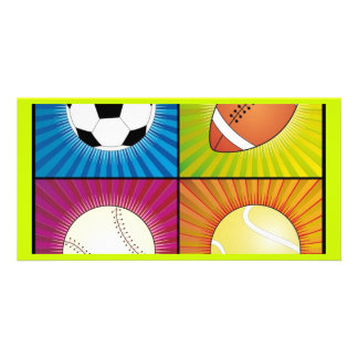 sport-balls personalized photo card