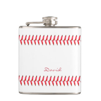 Sport Baseball Themed Stitched Custom Name Flask