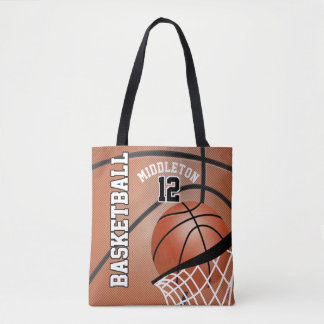 Sport Basketball   DIY Text Tote Bag