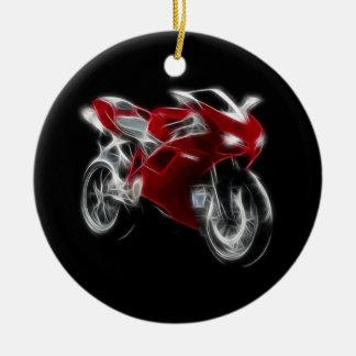 Sport Bike Racing Motorcycle Ceramic Ornament