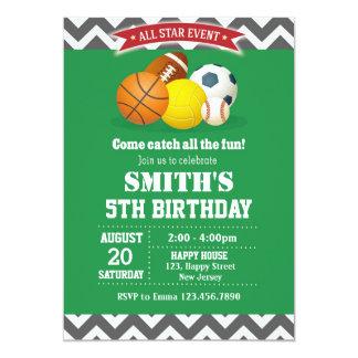 Sport Birthday Invitation