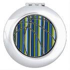 Sport Blue Green Stripe Basketball Compact Mirror