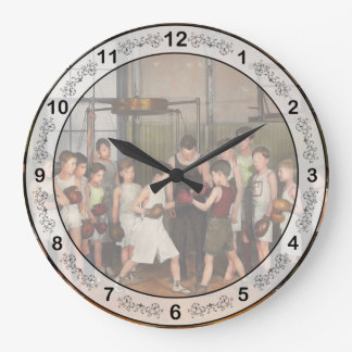 Sport - Boxing - Fists of fury 1924 Large Clock
