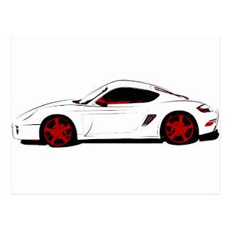 Sport car postcard