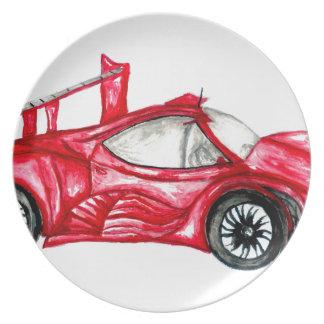 Sport Car Sketch Plate