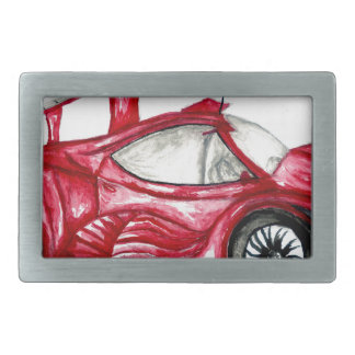 Sport Car Sketch Rectangular Belt Buckle