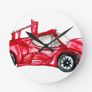 Sport Car Sketch Round Clock