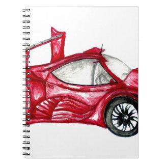 Sport Car Sketch Spiral Notebook