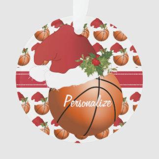 Sport Christmas Basketball Ornament