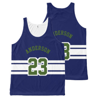 Sport Design - Name, Team, Number, Color All-Over-Print Tank Top