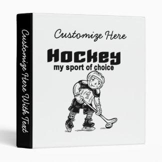 Sport d'hockey des T-shirts et des cadeaux bien Classeur Vinyle