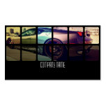 Sport Exotic Car in  Different Colors Business Card Template