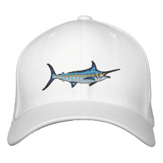 Sport Fishing Blue Marlin Embroidery Embroidered Hats