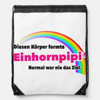 Sport. For body-conscious. Einhornpipi Drawstring Bag