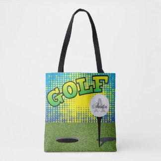 Sport Golf Design - DIY Text Tote Bag