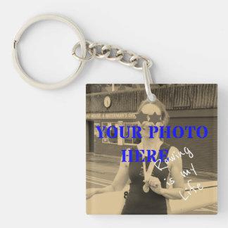 Sport is my Life custom photo and text memento Keychain