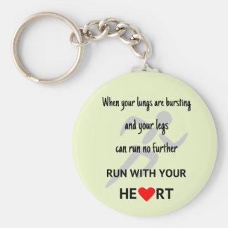 Sport motivational runners quote keychain