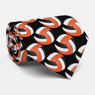 Sport Orange, White and Black Volleyball Tie