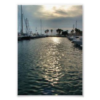 Sport port of Villajoyosa to the dusk Photo Print