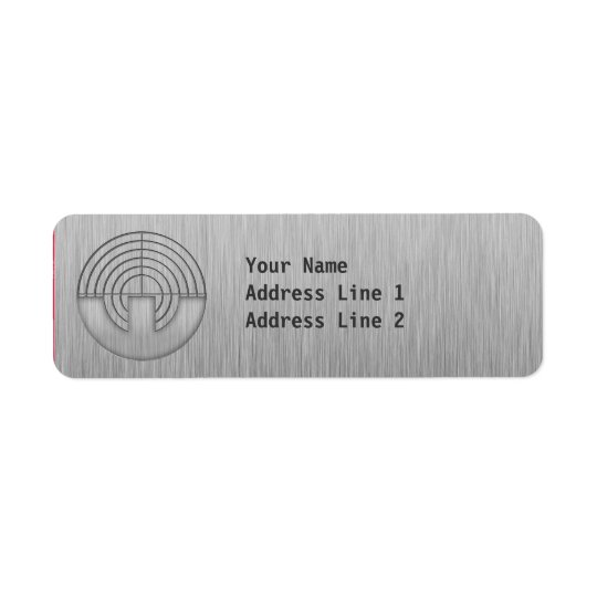 Sport Shooting; Metal-look Return Address Label