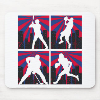 Sport Silhouettes Mouse Pad