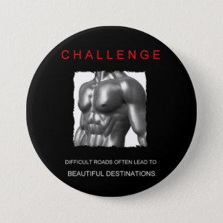 sport success motivational challenge goals 3 inch round button