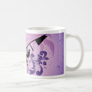 Sport, Surfboarder on violet background Coffee Mug