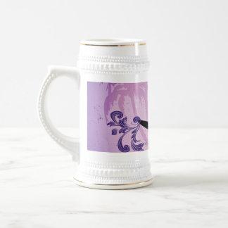 Sport, Surfboarder on violet background Mug