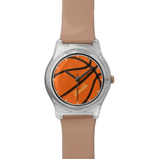 sport-themed personalized basketball watch