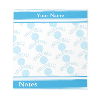 Sport Volleyball | Baby Blue | DIY Name Notepad