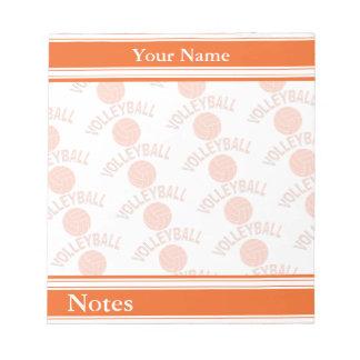 Sport Volleyball | Orange | DIY Name Notepad
