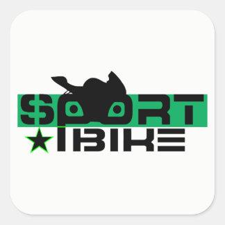 Sportbike rider square sticker