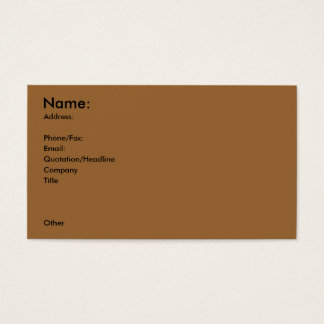 Sporting Goods (Archery on back) Profile Card