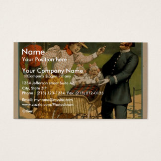 Sporting Life, 'Policeman Doxey's first arrest' Business Card