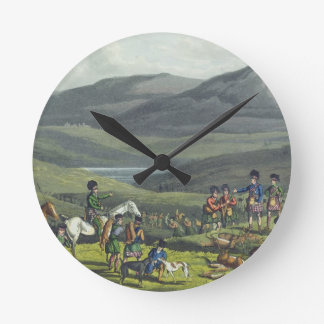 Sporting Meeting in the Highlands, aquatinted by I Wall Clocks