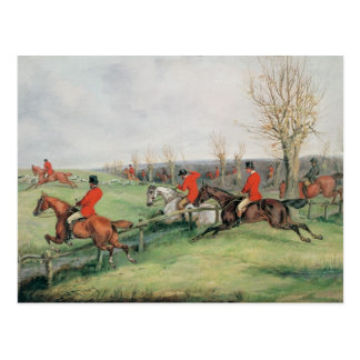 Sporting Scene, 19th century Postcard