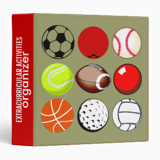 Sports Activities Organizer Vinyl Binders