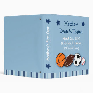 Sports All Star Baby Photo Album Scrapbook Vinyl Binder