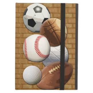 Sports All-Star Balls with Brick Wall Case For iPad Air