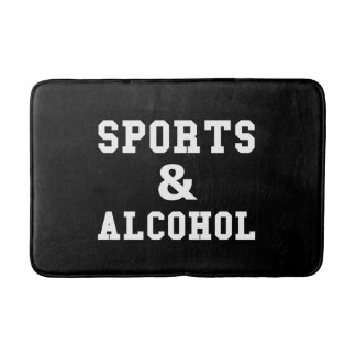 Sports And Alcohol Bath Mat
